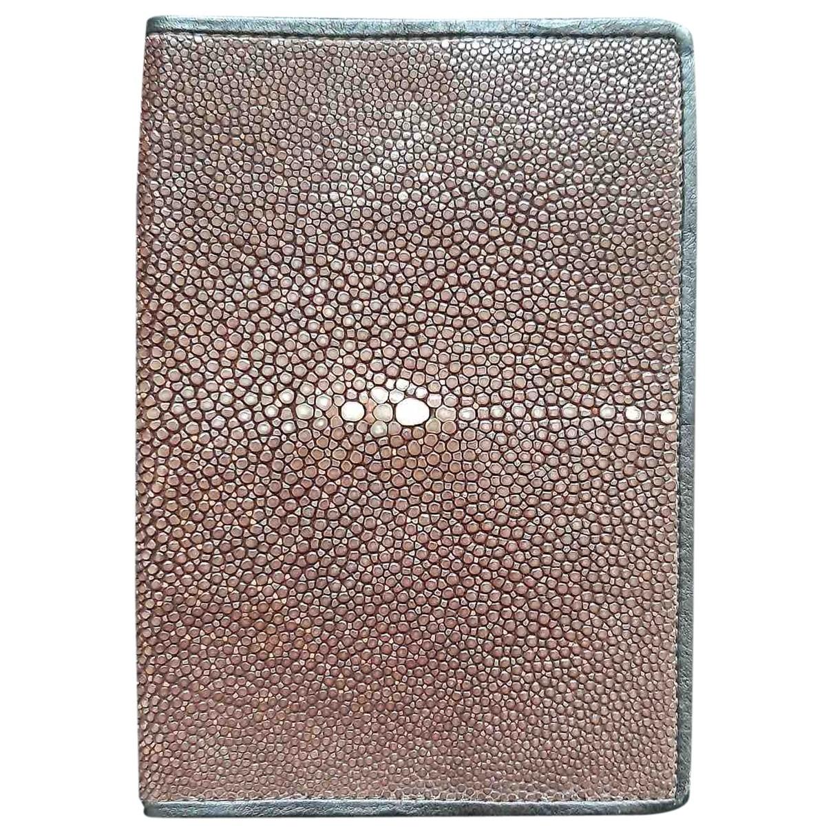 Giorgio Armani \N Brown Stingray Small bag, wallet & cases for Men \N
