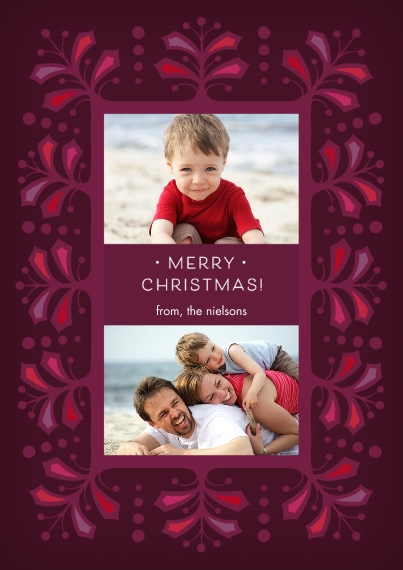 Christmas Photo Cards Flat Glossy Photo Paper Cards with Envelopes, 5x7, Card & Stationery -Merry Holly Berries Photo Card by Hallmark