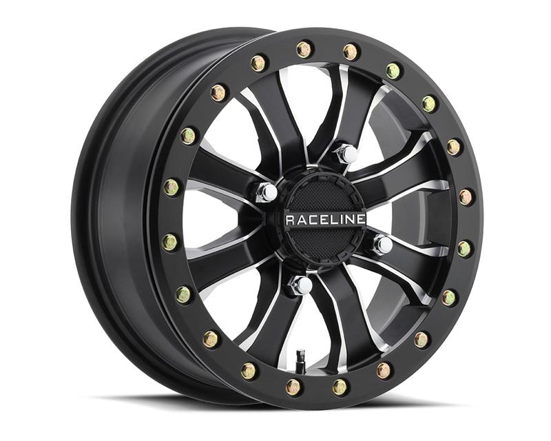 Raceline Wheels A71MB-56056-51 Mamba Black w/ Machine Face 15x6 4x156 (5+1)