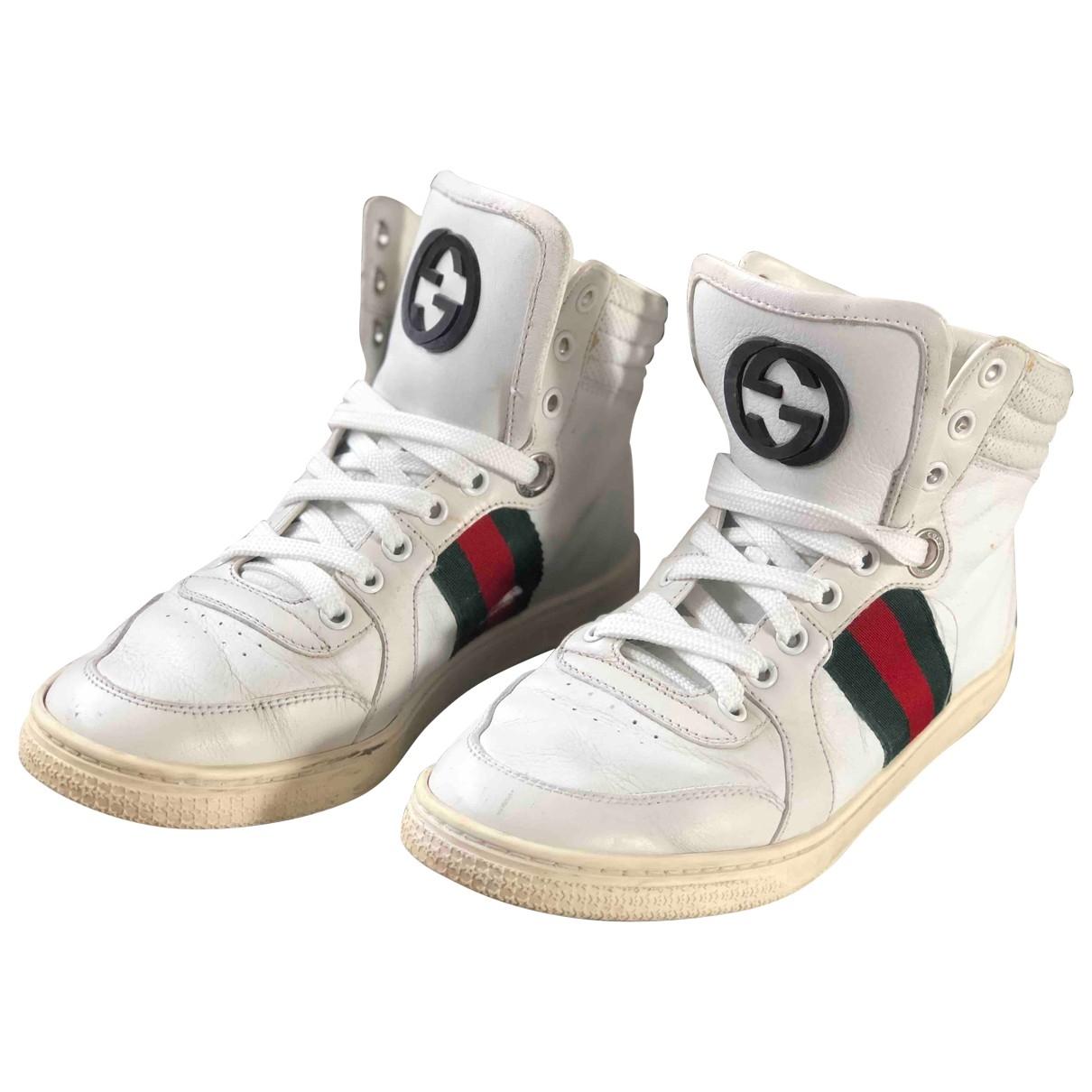 Gucci - Baskets   pour femme en cuir - blanc