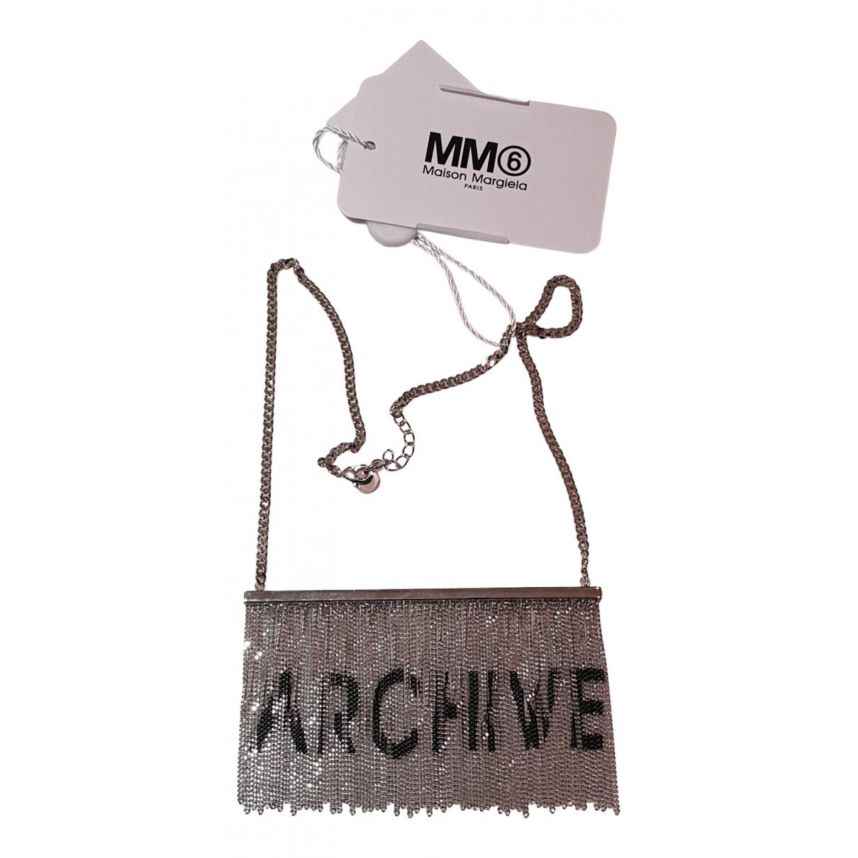 Mm6 - Collier   pour femme en metal - argente