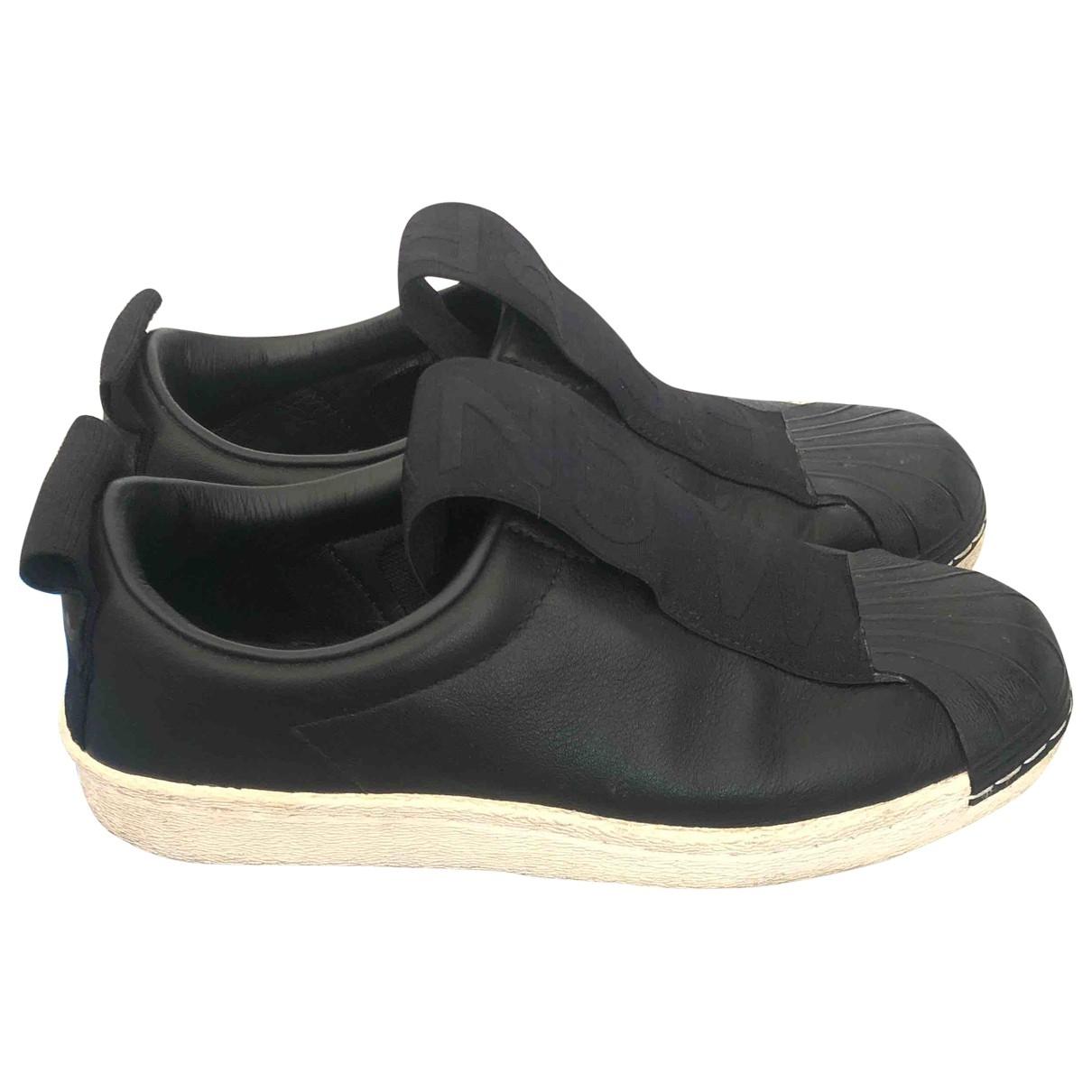 Palace X Adidas - Baskets   pour femme en cuir - noir