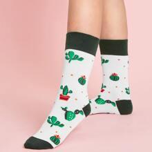 Cactus Pattern Socks