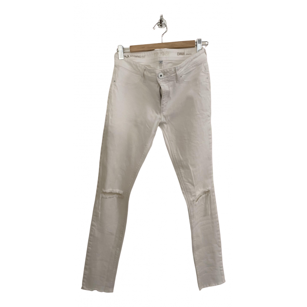 Dl1961 \N White Cotton - elasthane Jeans for Women 27 US