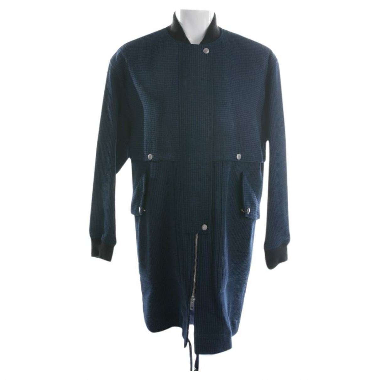 Rag & Bone - Veste   pour femme en cuir - bleu