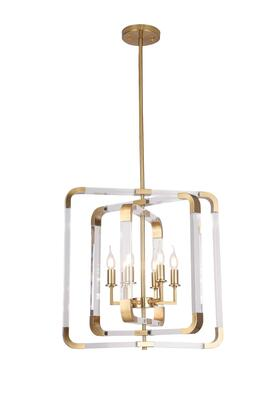 ZL24C23CO 6-Light Ceiling Fixture with Metal and Acrylic Materials and 60 Watts in Copper