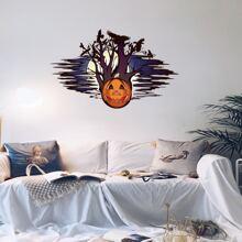 Halloween Wandaufkleber mit Kuerbis Muster