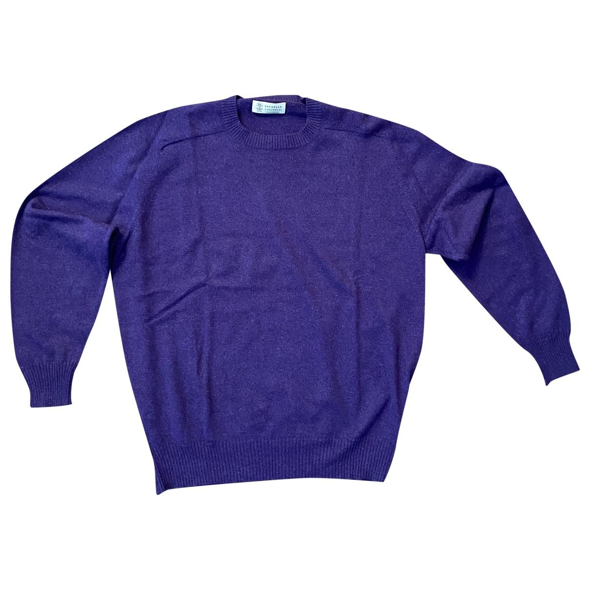 Brunello Cucinelli \N Pullover.Westen.Sweatshirts  in  Lila Kaschmir