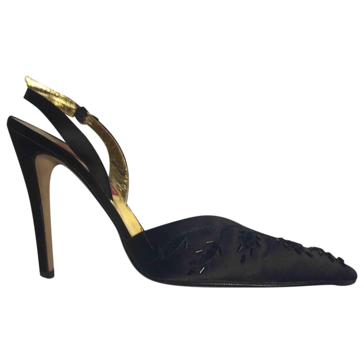 Andrea Pfister - Escarpins   pour femme en toile - noir