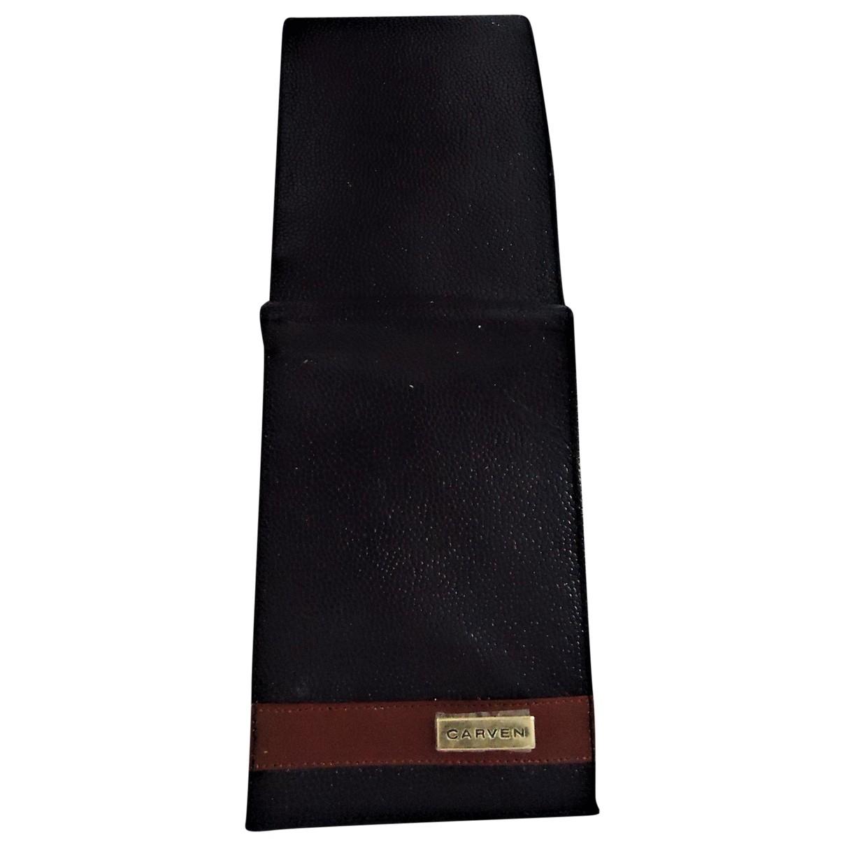 Carven \N Kleinlederwaren in  Schwarz Leder