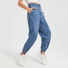 Taschen  Einfarbig Laessig Jeans