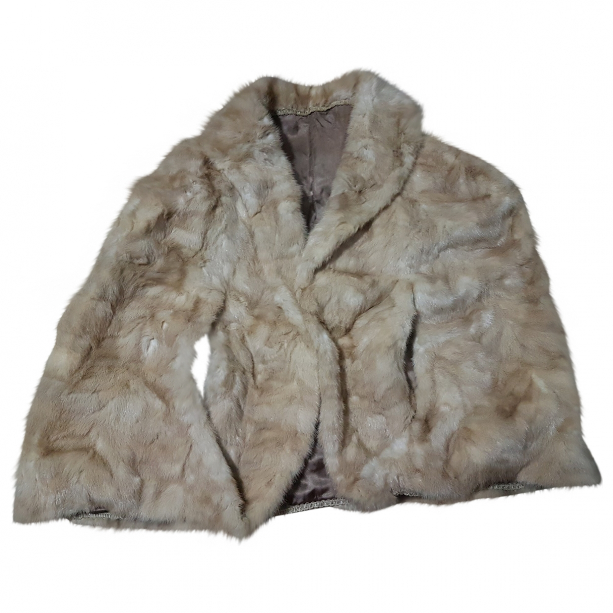 Non Signé / Unsigned \N Beige Mink coat for Women One Size FR