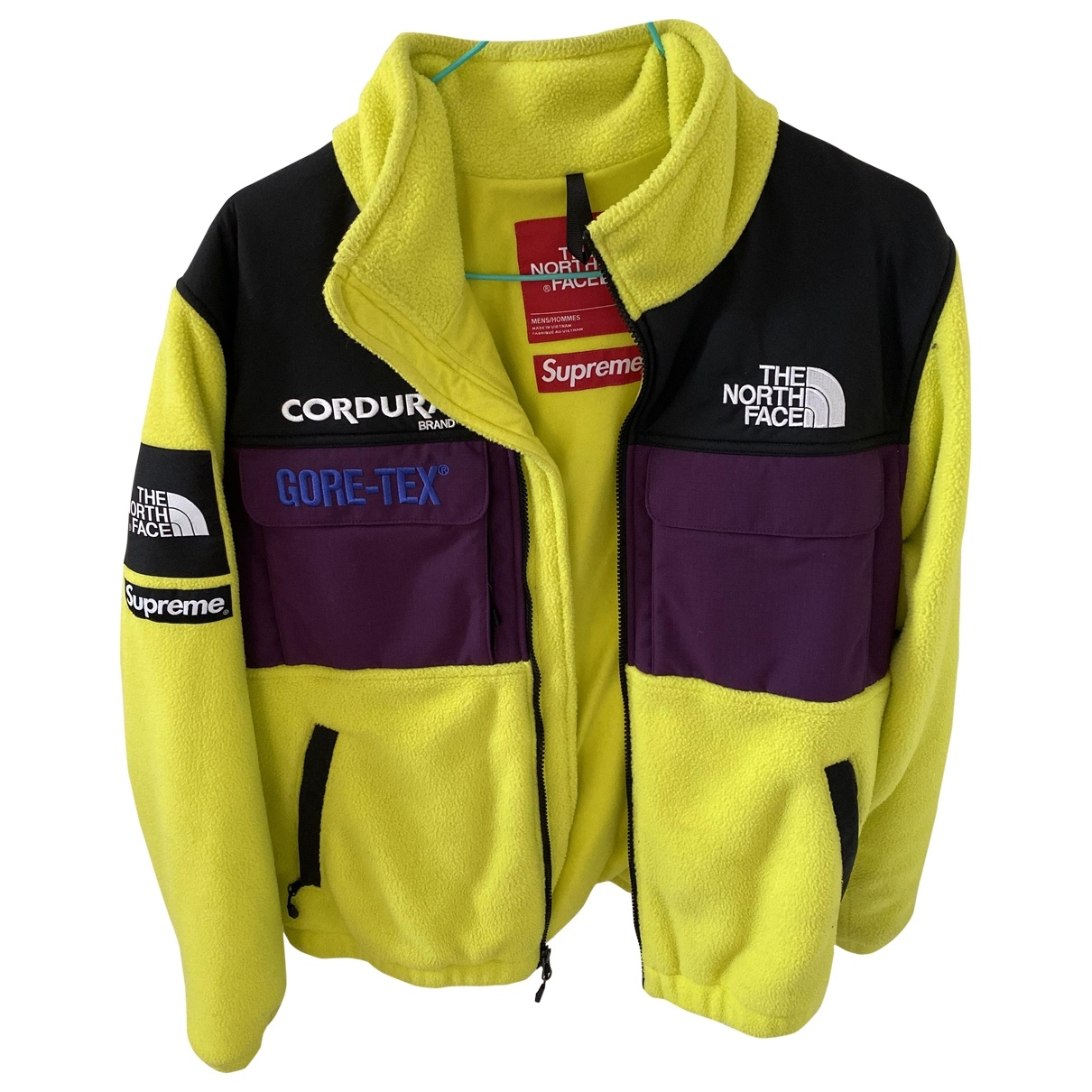 Supreme X The North Face \N Jacke in  Gelb Synthetikpelz