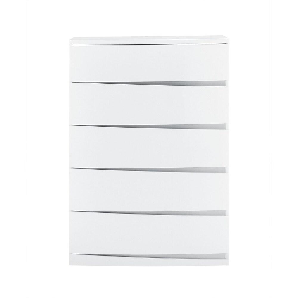 Global Furniture USA Aurora White Chest (5-drawer - White)