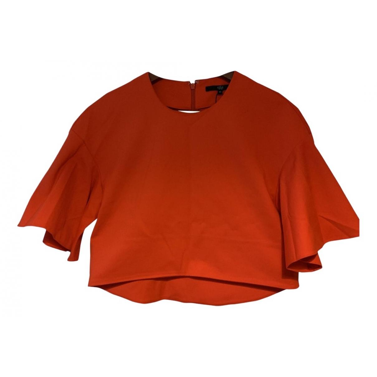 Tibi - Top   pour femme en coton - rouge