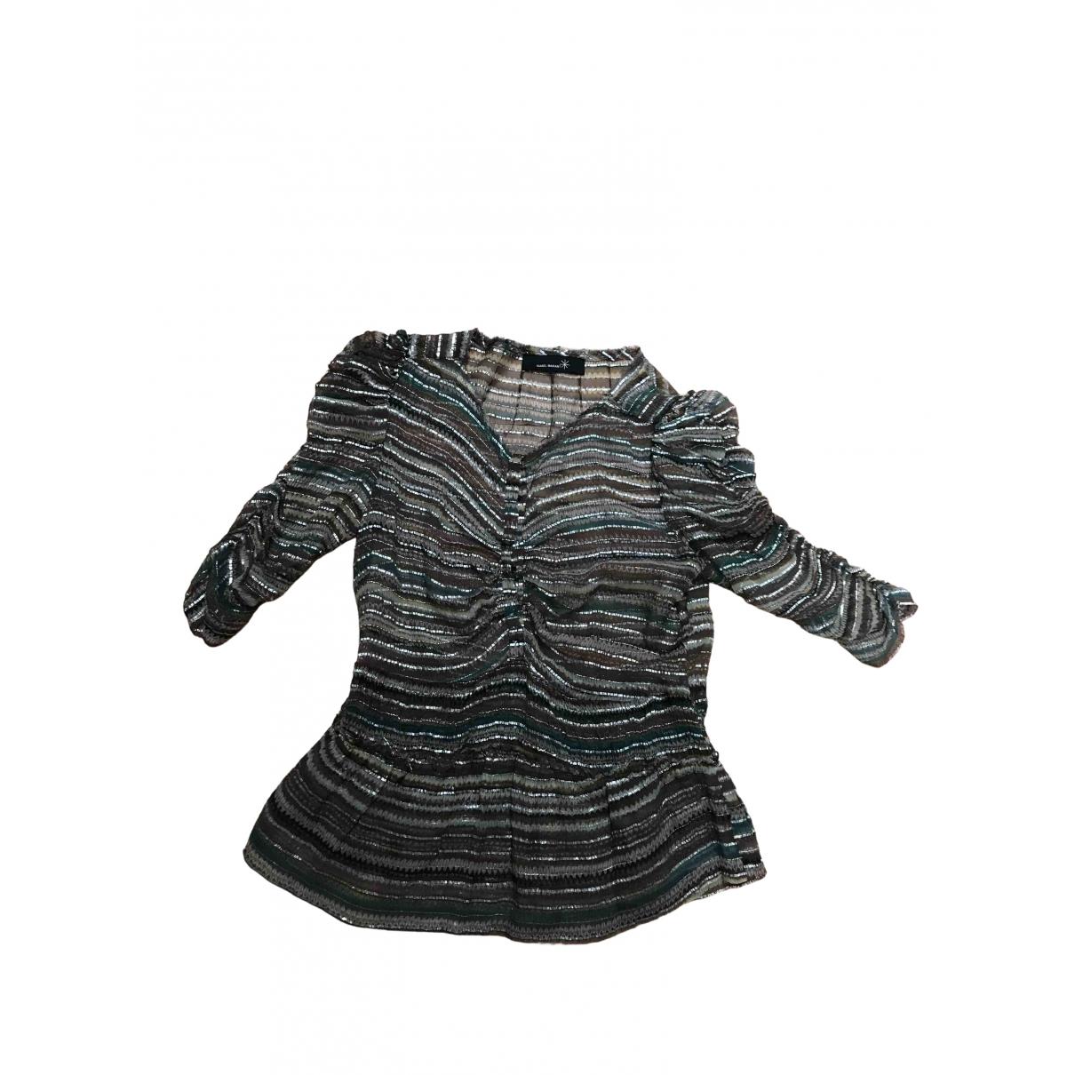 Isabel Marant Etoile - Top   pour femme en soie - metallise