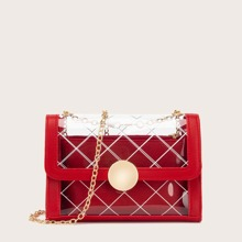 Clear Chain Bag With Inner Pouch