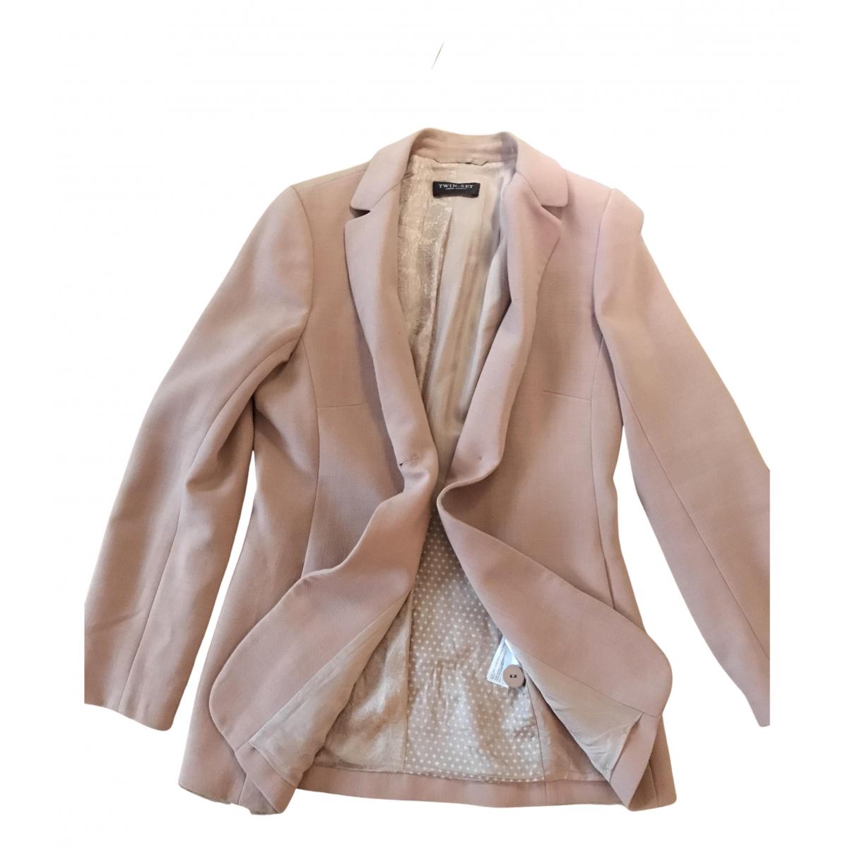 Twin Set - Veste   pour femme en laine - rose
