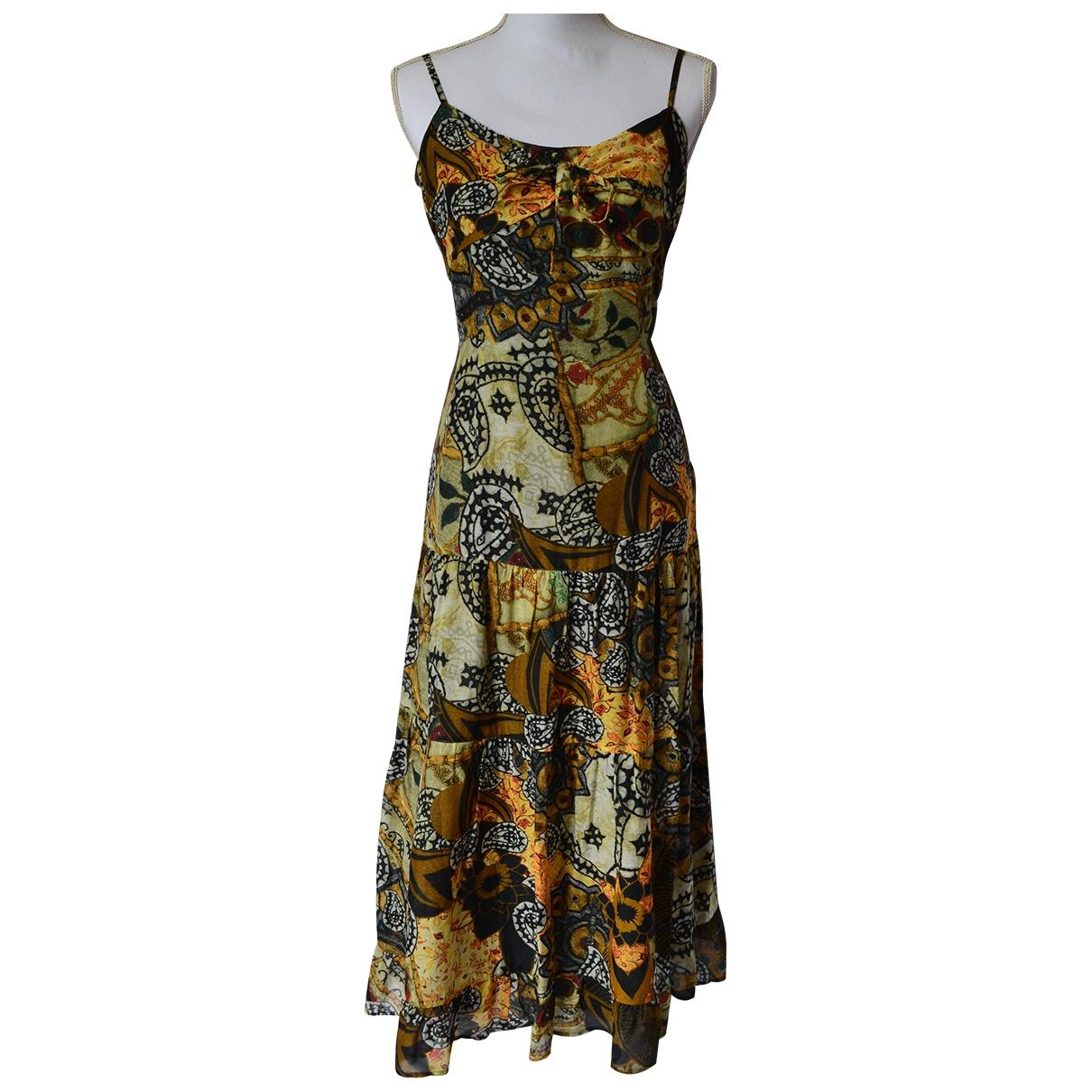 Non Signe / Unsigned \N Kleid in  Gruen Baumwolle