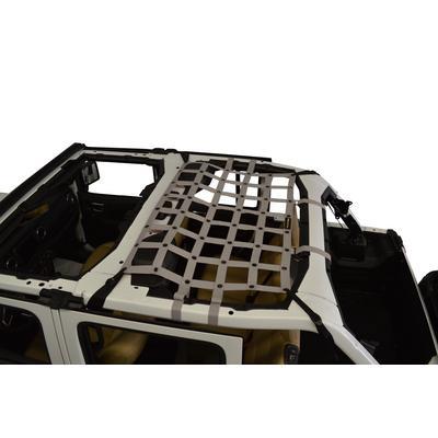 DirtyDog 4x4 Rear Seat Netting (Gray) - JL4N18M1GY