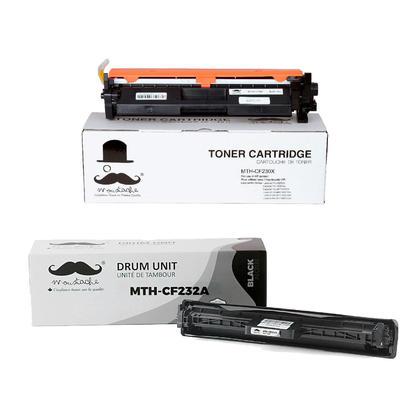 Compatible HP CF230X CF232A cartouche de toner et tambour compatible combo - avec puce - Moustache�