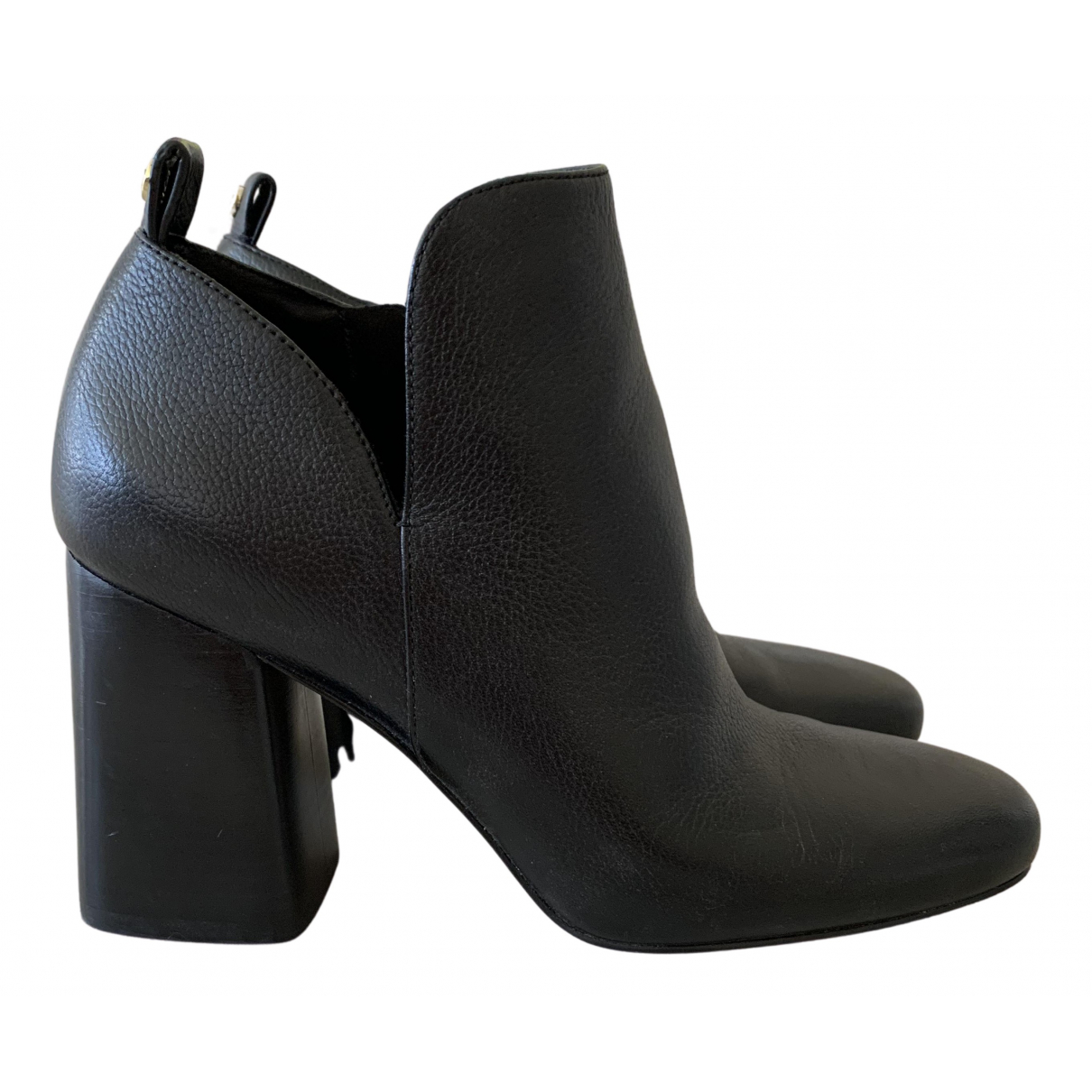 Michael Kors N Black Leather Ankle boots for Women 37 IT