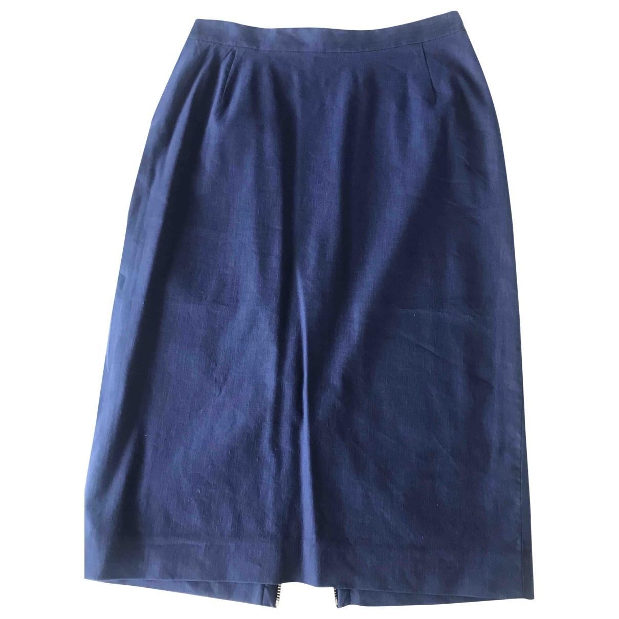 Jean Paul Gaultier - Jupe   pour femme en lin - bleu
