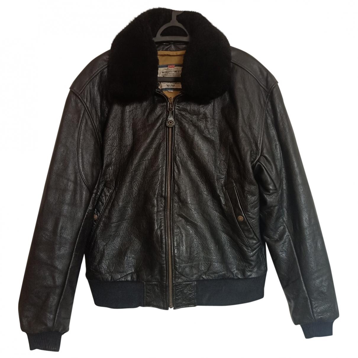Levi's \N Black Leather jacket  for Men M International