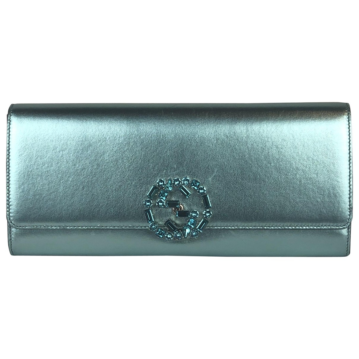 Gucci Broadway Green Leather Clutch bag for Women \N