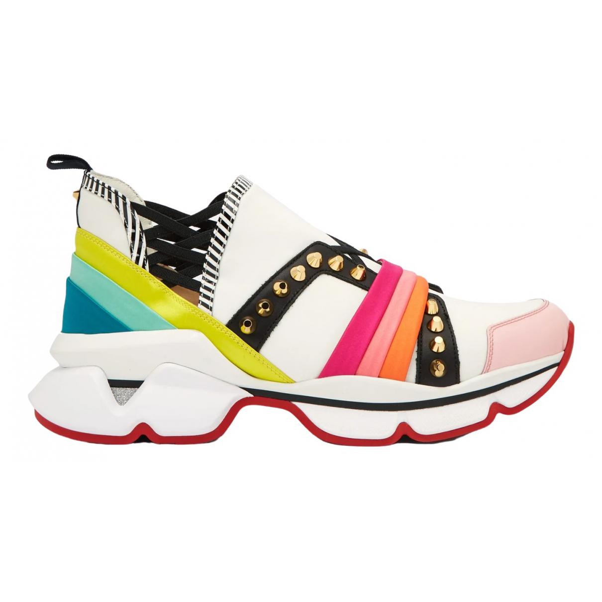 Christian Louboutin - Baskets   pour femme en cuir - multicolore