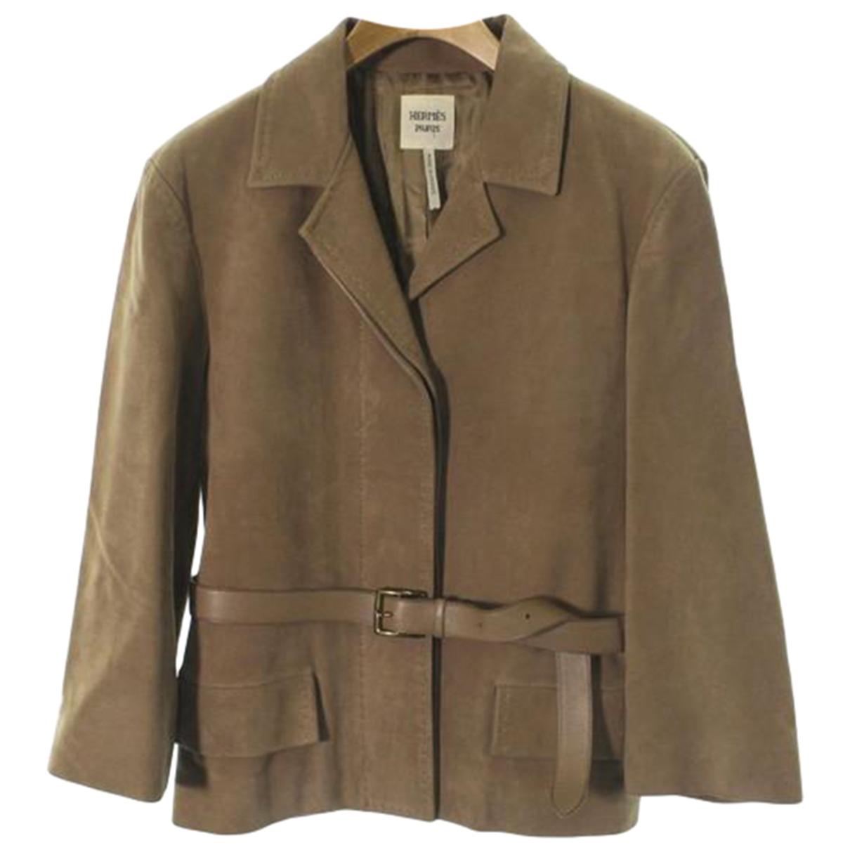 Hermes - Veste   pour femme en soie - marron