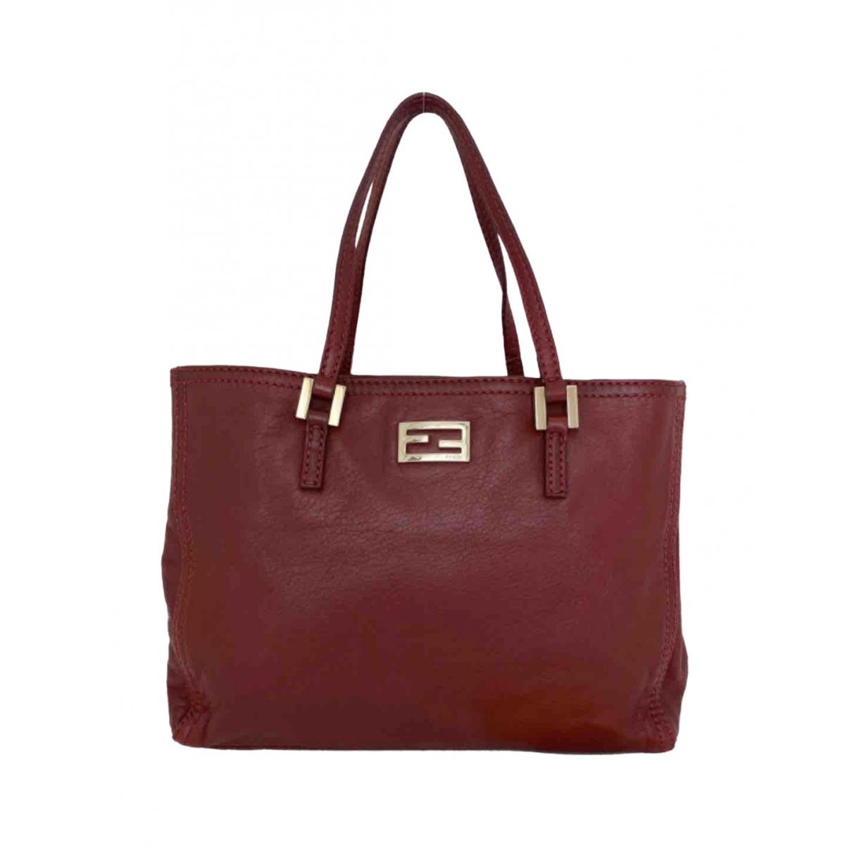 Fendi \N Burgundy Leather handbag for Women \N