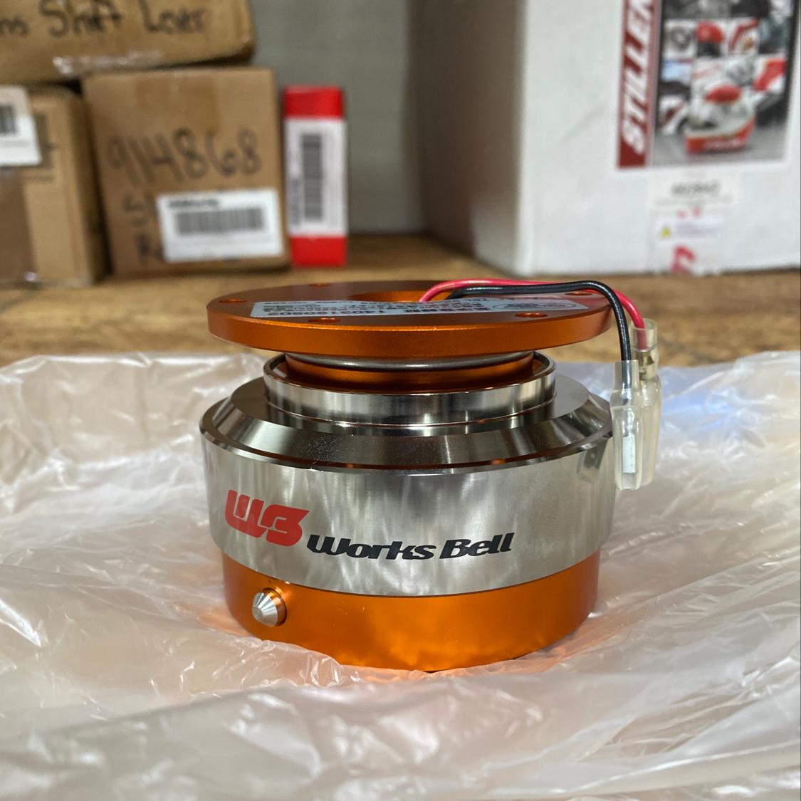 Works Bell WB-070575 Orange Rapfix II Steering Wheel Quick Release CLEARANCE