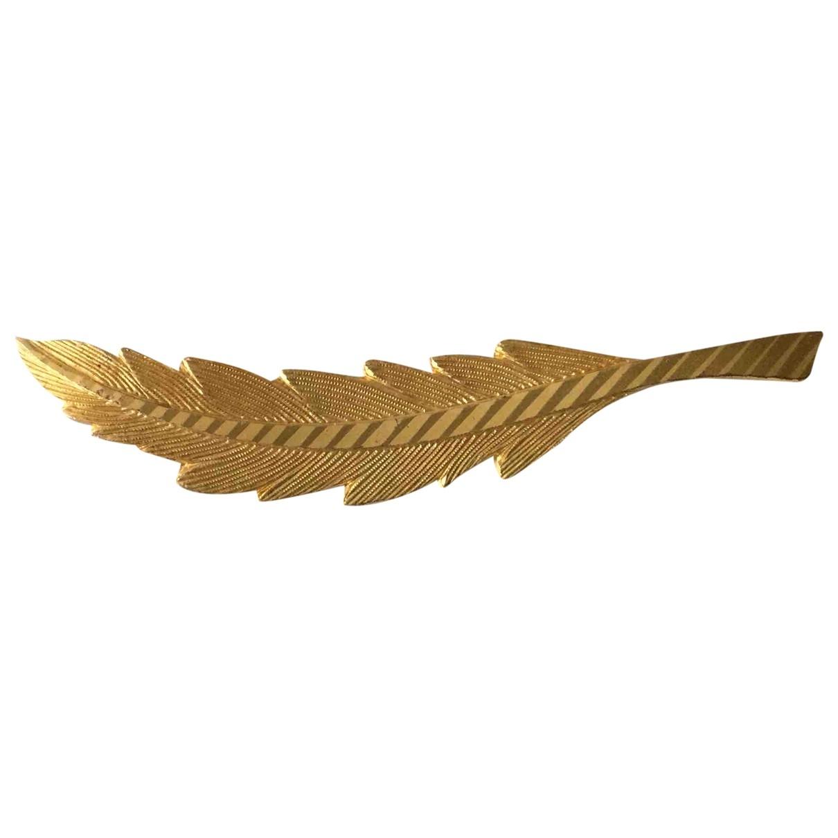 - Broche Motifs Floraux pour femme en plaque or - dore