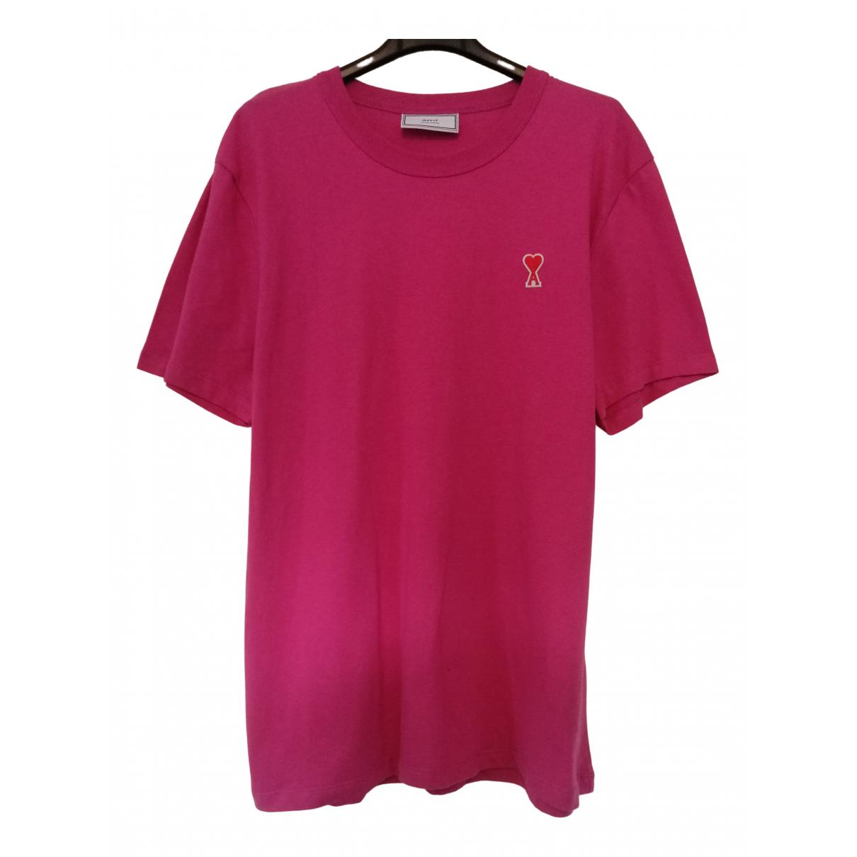 Ami \N Pink Cotton T-shirts for Men L International