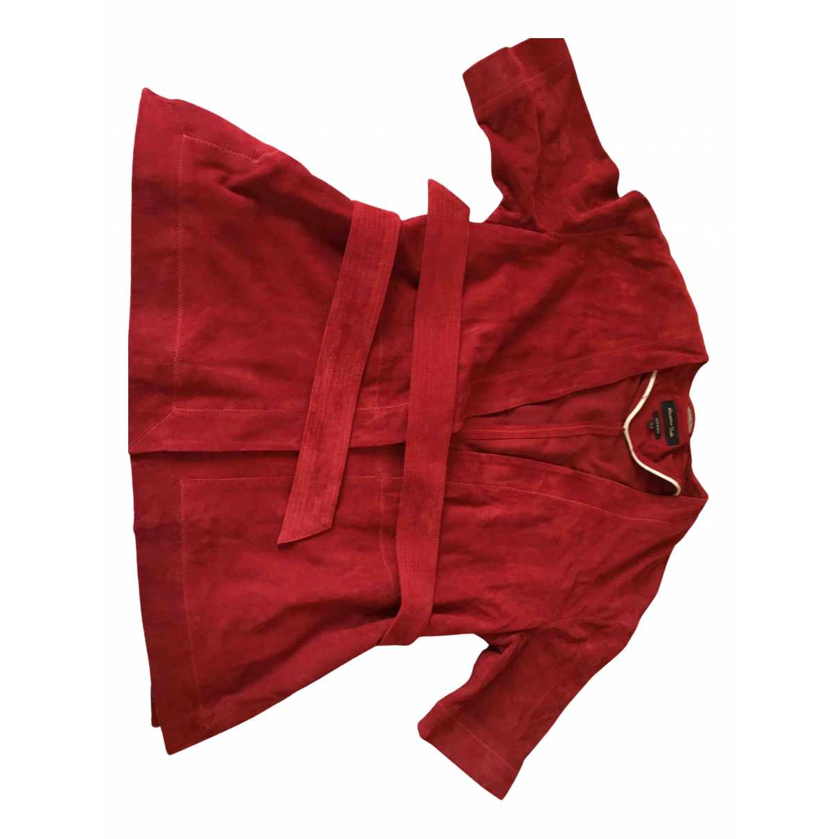 Massimo Dutti N Burgundy Velvet jacket for Women 38 FR