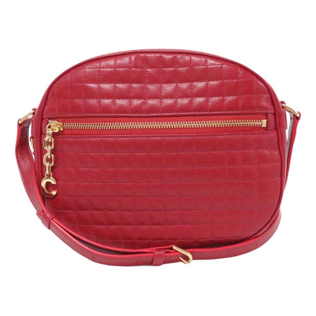 Celine C charm Red Leather handbag for Women N