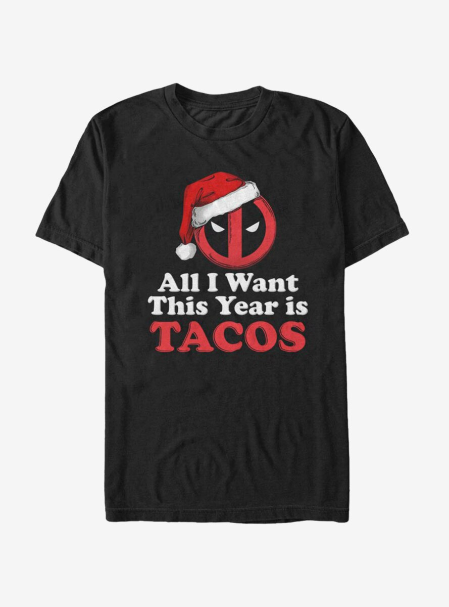 Marvel Deadpool Tacos All I Want T-Shirt