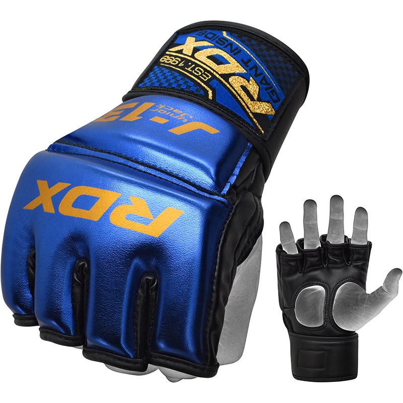 RDX J13 Guantes de Grappling MMA Junior S Azul