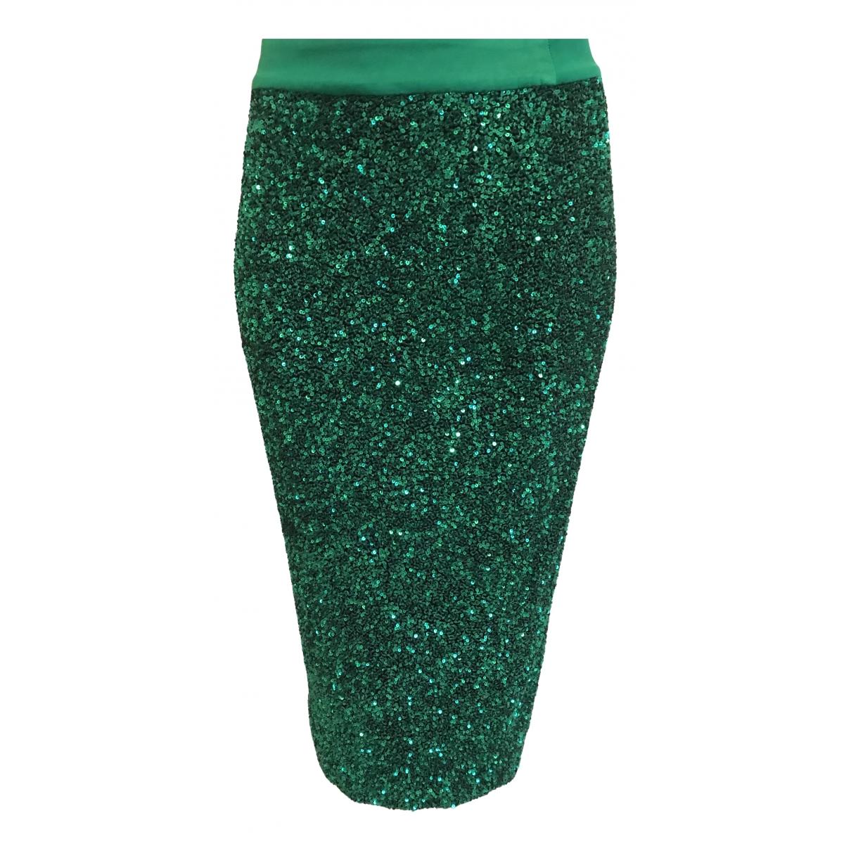 Manish Arora \N Green Glitter skirt for Women 38 FR