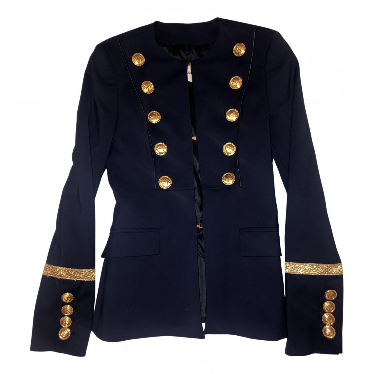 Flavio Castellani N Blue Cotton jacket for Women 40 IT