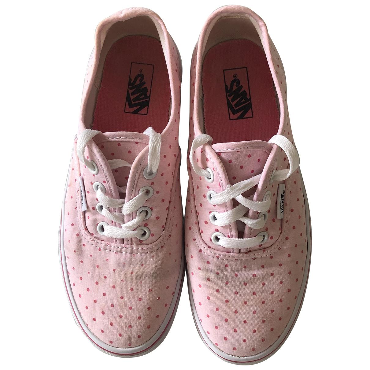 Vans \N Sneakers in  Rosa Leinen