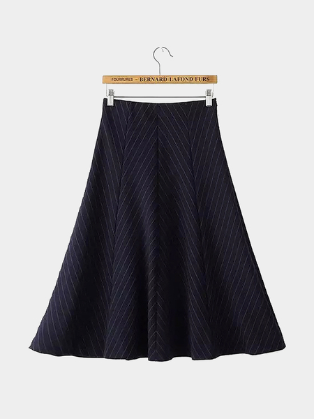 Yoins High Waist Stripe Midi Skirt