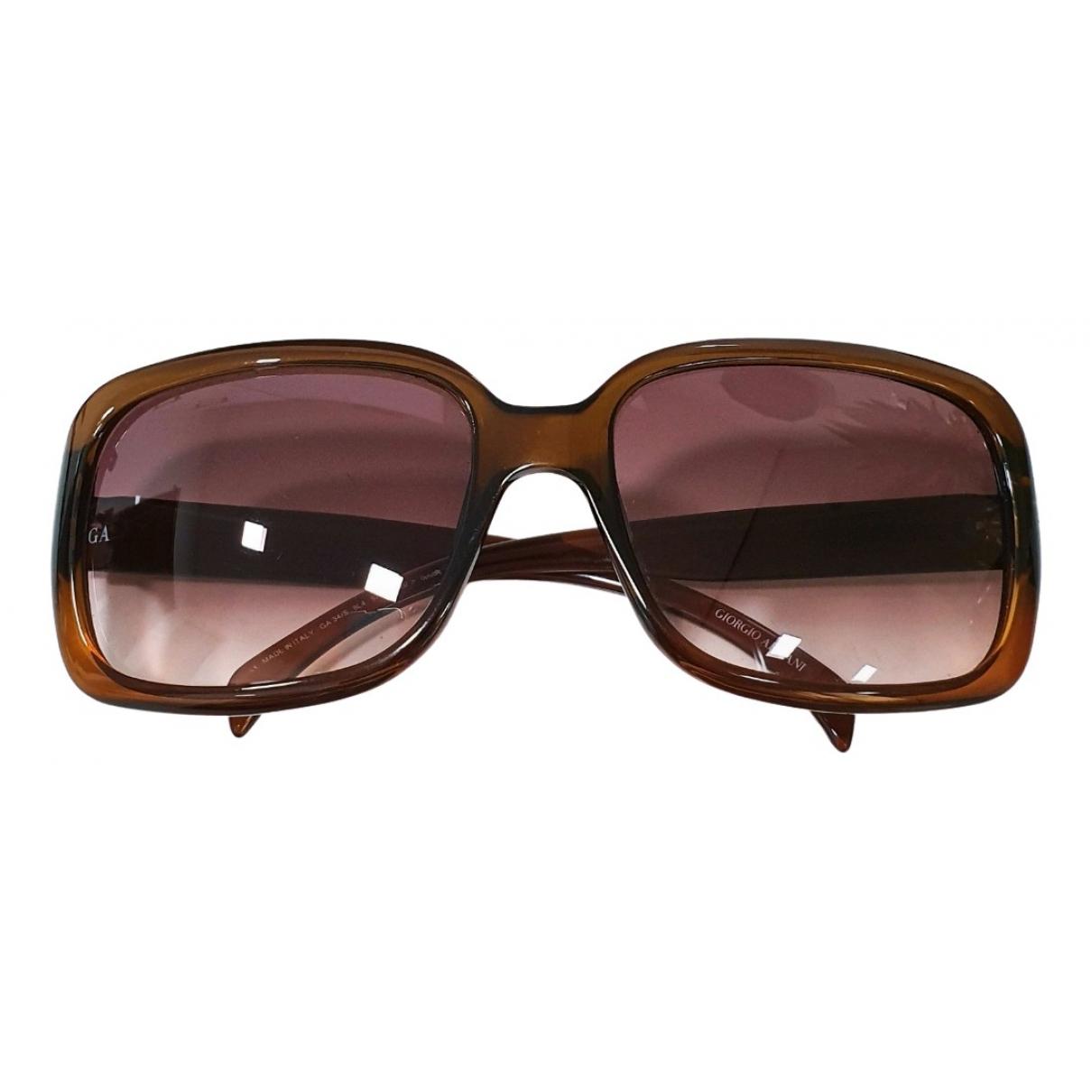 Giorgio Armani - Lunettes   pour femme en autre - marron