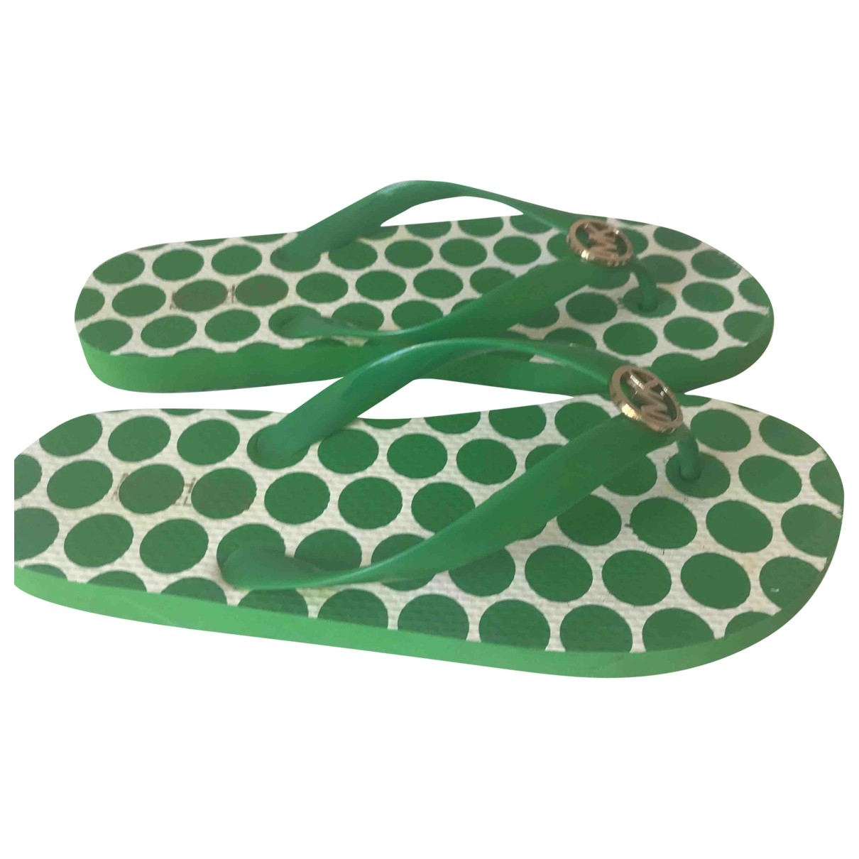 Michael Kors \N Green Rubber Flats for Women 9 US