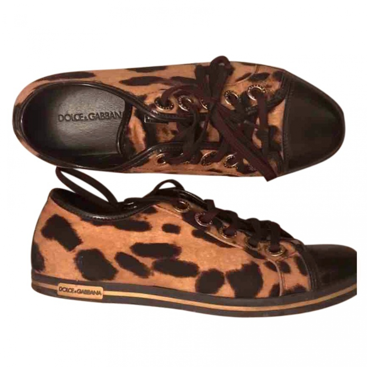 Dolce & Gabbana \N Brown Cloth Trainers for Women 38 EU