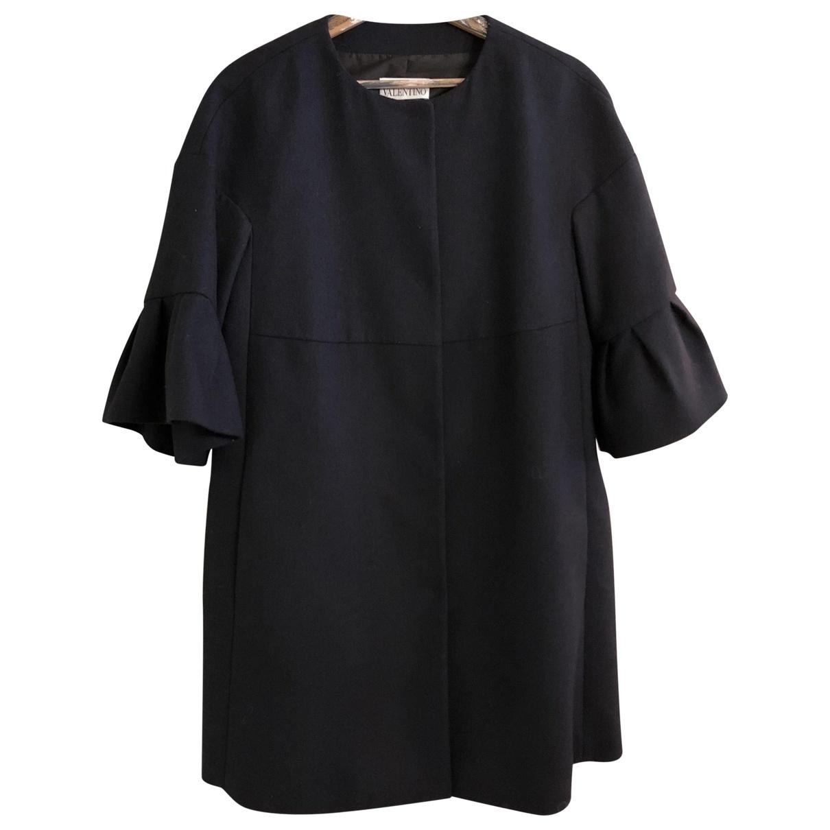 Red Valentino Garavani \N Black Wool coat for Women 42 IT