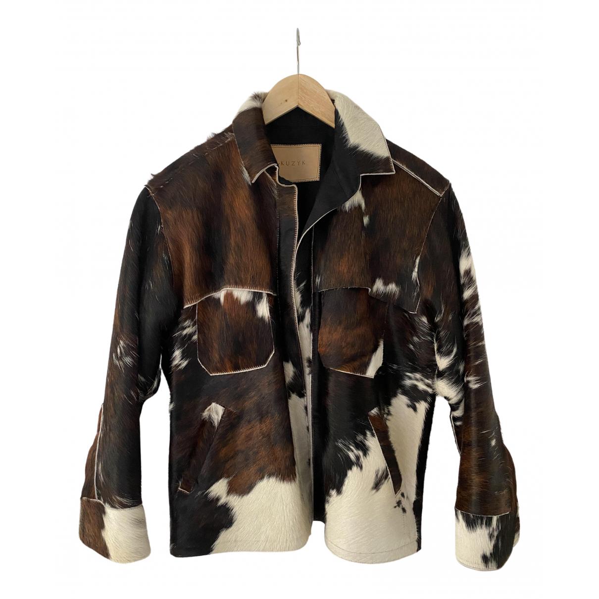 - Veste Oversize pour femme en fourrure - marron