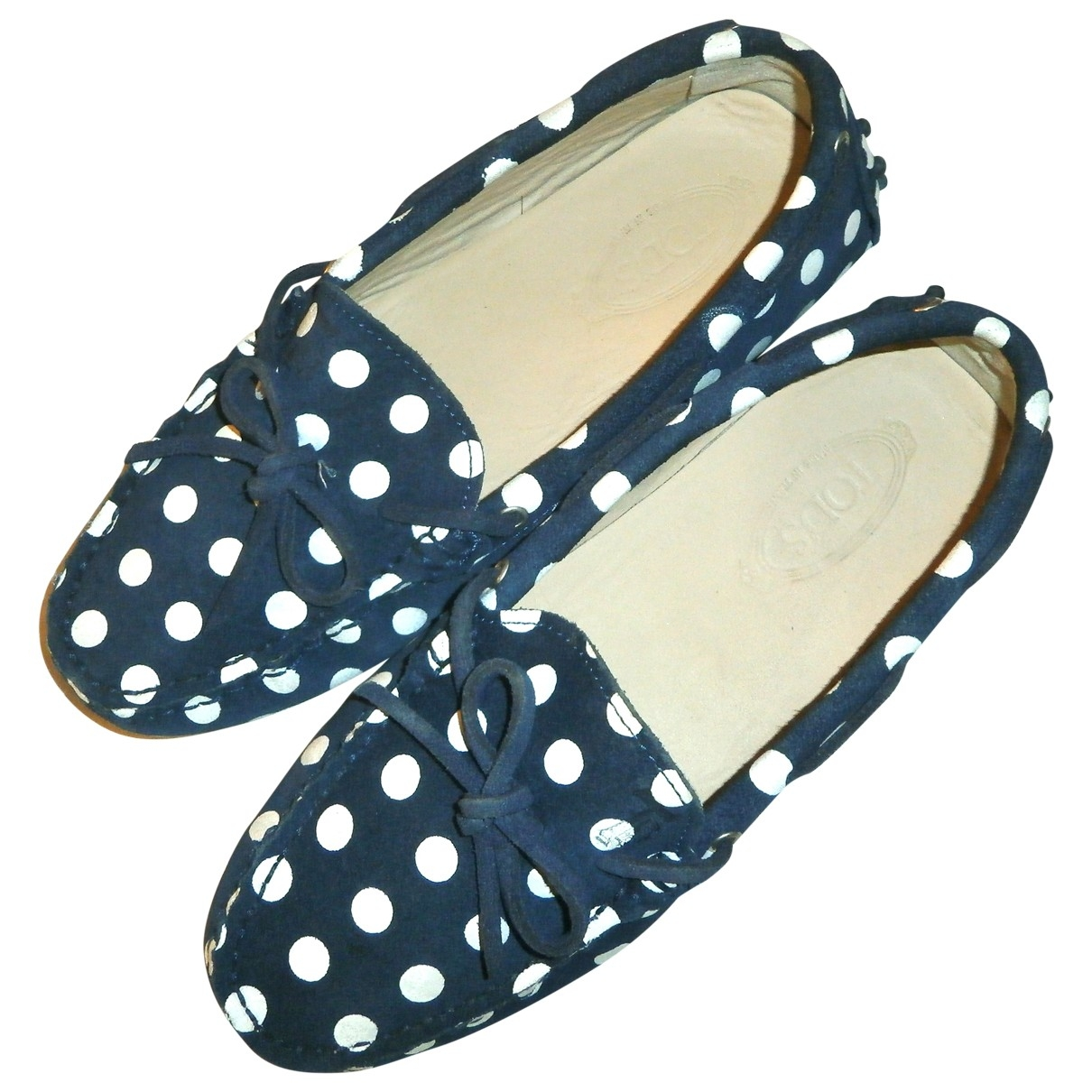 Tod's Gommino Navy Suede Flats for Women 37 EU