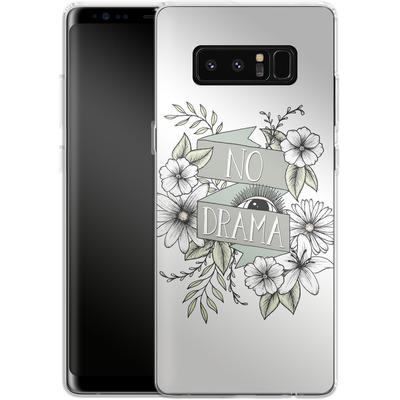 Samsung Galaxy Note 8 Silikon Handyhuelle - No Drama - Green von Barlena